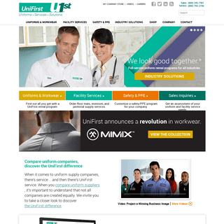 Uniforms, Work Clothing, Uniform Rental, Facility Services - UniFirst Official Website