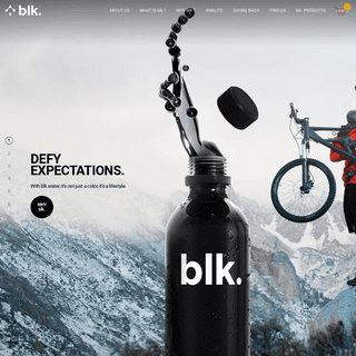 blk.water - Black Alkaline Water with Fulvic Trace Minerals - blk.