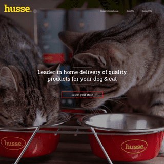Husse - Free home delivery of quality food for your dog and cat