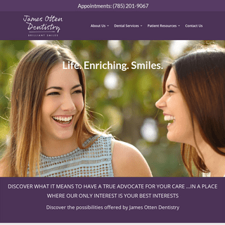 Dentist Lawrence - TMJ Treatment Kansas - Dental Implants 66044 - James Otten Dentistry