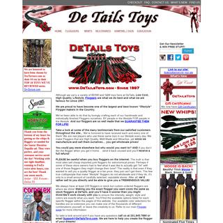 Floggers & Lifestyle BDSM Toys Since 1997 -DetailsToys.com - High Quality, Lifestyle, Floggers and Toys Since 1997.