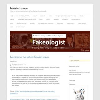 Fakeologist.com - Exposing media fakery one PsyOp at a time