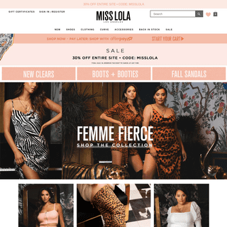 MISS LOLA - Women's Heels, Shoes, Clothing, Accessories, Bags & More
