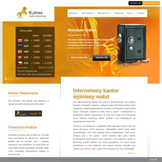Internetowy kantor wymiany walut, walutowy, online, dobry, tani - Kubisa24