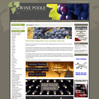 Wine Poole independent wine merchant, Warwick