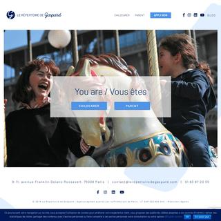 ArchiveBay.com - lerepertoiredegaspard.com - Garde d'enfants en anglais - English childcare services in Paris - Le Répertoire de Gaspard