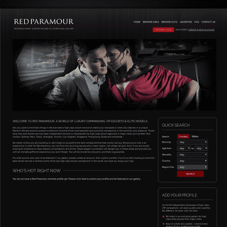 Red Paramour - International High Class Escorts VIP Directory