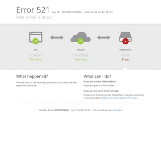 leasecosts.ca - 521- Web server is down