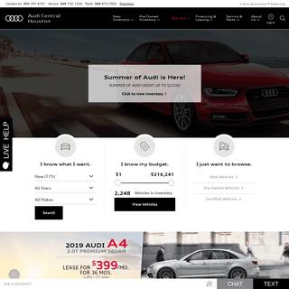 Audi Central Houston- Audi Dealership in Houston, TX