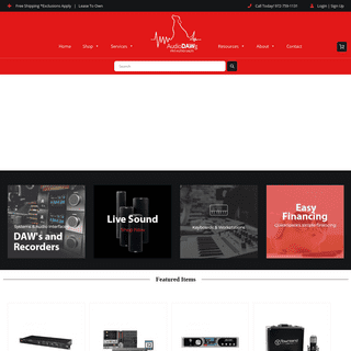 AudioDAWg – PRO Audio Sales