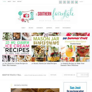 ArchiveBay.com - asouthernfairytale.com - A Southern Fairytale - Recipes, Stories, Pictures, and This Week in Happiness from a Southern Texas Mama and Her Family