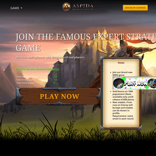 Aspida - the online multiplayer strategy game