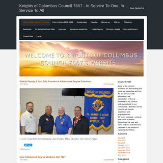 Knights of Columbus Council 7667 - In Service To One, In Service To All - Past Activities June '18 - Present