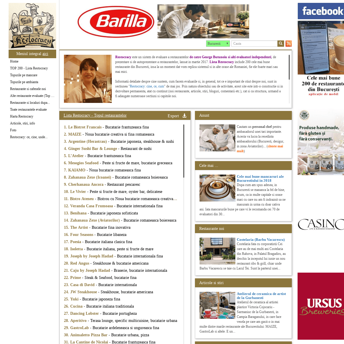 ArchiveBay.com - restocracy.ro - Restaurante Bucuresti - evaluari si topuri
