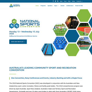 National Sports Convention Australia, 23-25 July 2019