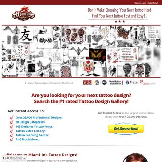 Beautiful Tattoo Designs In Over 60 Categories - Tattoo Flash