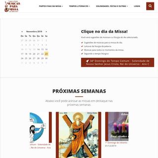 Músicas para Missa - O site do músico servo do Senhor!