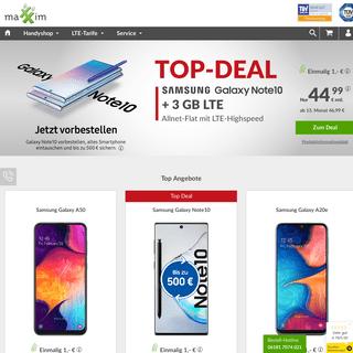 maXXim- Günstige Smartphones & LTE Handytarife mit Allnet Flat