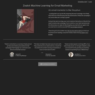 Zealot Marketing – Personalized, Automated Email Marketing