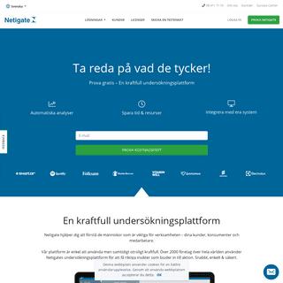 Sveriges ledande undersökningsplattform - Netigate