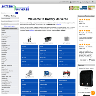 Battery Universe - Batteries for two way radios and more
