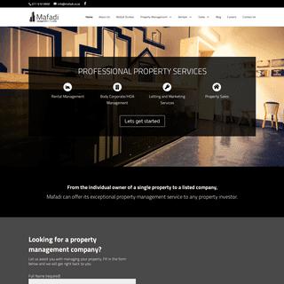 Mafadi Property Management Company - Management Letting Sales