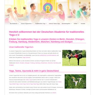 Dt. Akademie für traditionelles Yoga - Yoga und Tantra Kurse