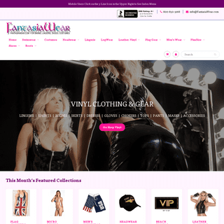 FantasiaWear Swimwear, Leather-Vinyl, Lingerie, Costumes, Footwear,