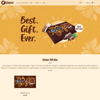 Organic Raw Chocolate - Ombar - Naturally Better