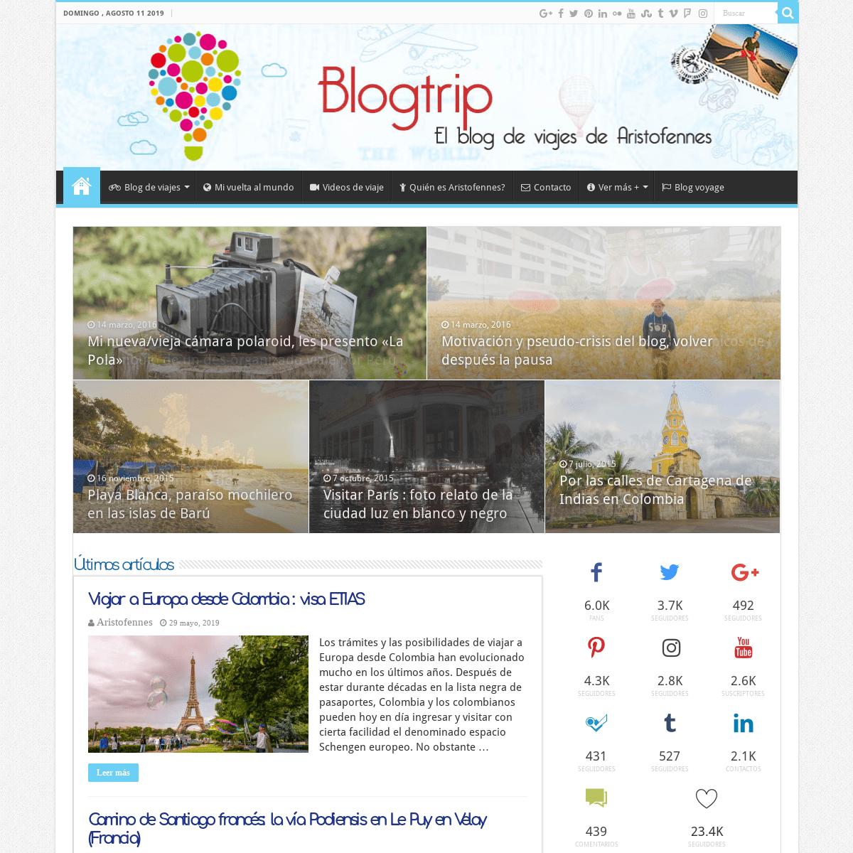 Blogtrip - blog de viajes de Aristofennes, viajar el mundo