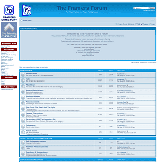 The Framers Forum • Index page