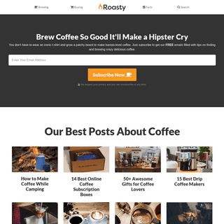 Roasty Coffee - The Unfiltered Resource for Coffee Lovers