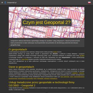 Strona główna projektu • GEOPORTAL 2