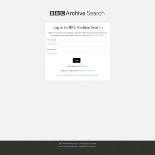 Login - BBC Archive Search