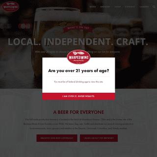 Warped Wing Beer - Downtown Dayton's Favorite Brewery