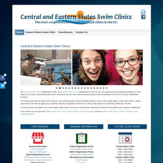 ArchiveBay.com - swimclinic.com - Central and Eastern States Swim Clinic - The most comprehensive and personalized coaches' clinics in the United StatesCentral