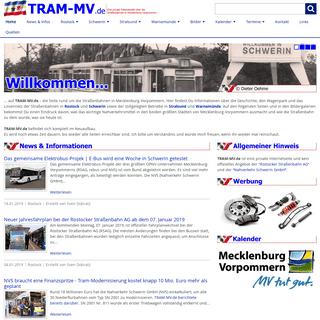 TRAM-MV.de - Die Straßenbahnen in Mecklenburg-Vorpommern