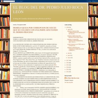 EL BLOG DEL DR. PEDRO JULIO ROCA LEÓN