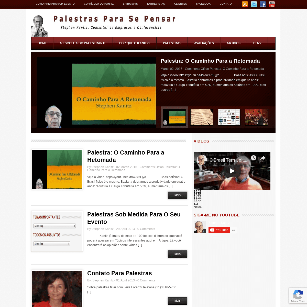 Palestrante Stephen Kanitz - Palestra Sobre Um Brasil Que Dá Certo