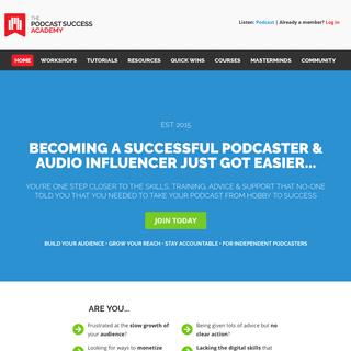 ArchiveBay.com - podcastsuccessacademy.com - Become an Audio Influencer, Your Way - The Podcast Success AcademyThe Podcast Success Academy