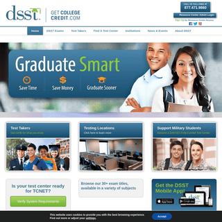 DSST – DSST – Get College Credit