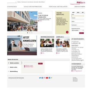 ArchiveBay.com - phbern.ch - Startseite PHBern - die deutschsprachige Pädagogische Hochschule