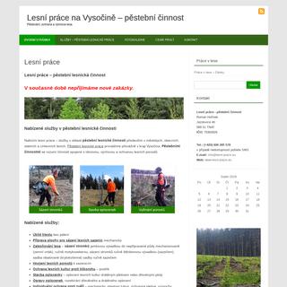 Lesní práce na Vysočině - pěstební lesnická činnost - Roman Hořínek