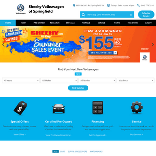Volkswagen Dealership - Sheehy VW of Springfield near Alexandria & DC.