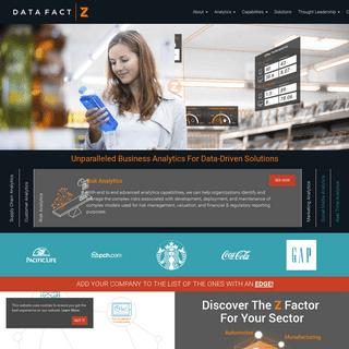 Advanced Business Big Data Analytics Company - DataFactZ