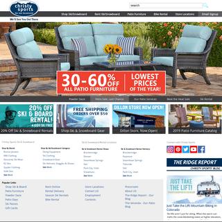 Ski Rental - Snowboard Rental - Shop Online - Outdoor Patio Furniture - ChristySports.com