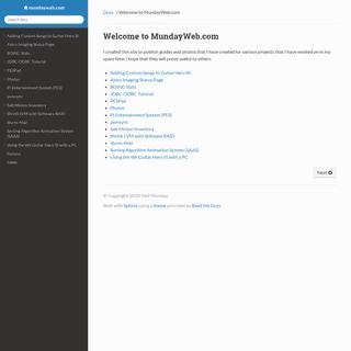 Welcome to MundayWeb.com — mundayweb.com documentation