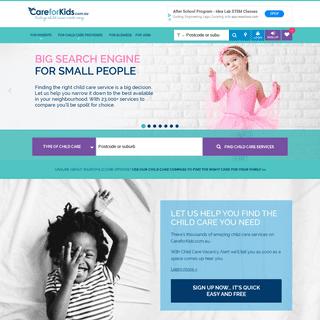 ArchiveBay.com - careforkids.com.au - The way Australian families find child care - CareforKids.com.au