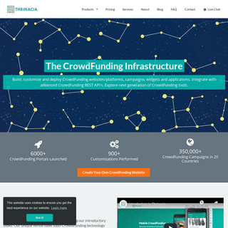 ArchiveBay.com - thrinacia.com - Thrinacia -- The White Label CrowdFunding Infrastructure. Powering CrowdFunding Websites, Applications and Campaigns. Create Cro
