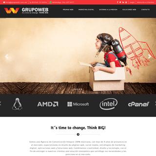Grupo Web - Agencia de Comunicación Integral en México - Soluciones web innovadoras
